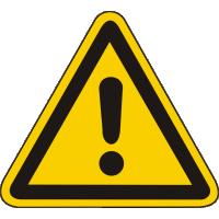 W00 / Warnschild als Symbol Warnung vor einer Gafahrenstelle nach BGV A 8