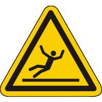 W011 / Warnschild als Symbol Warnung vor Rutschgefahr nach ISO 7010
