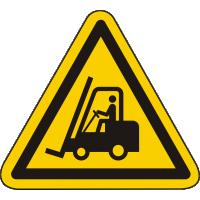 W014 / Warnschild als Symbol Warnung vor Flurförderfahrzeugen nach ISO 7010