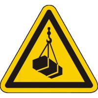 W015 / Warnschild als Symbol Warnung vor schwebender Last nach ISO 7010