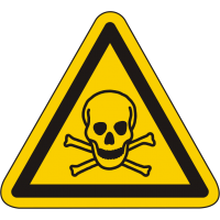 W016 / Warnschild als Symbol Warnung vor giftigen Stoffen nach ISO 7010