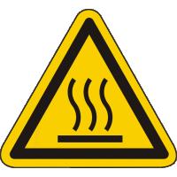 W017 / Warnschild als Symbol Warnung vor heißer Oberfläche nach ISO 7010