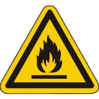 W021 / Warnschild als Symbol Warnung vor feuergefährlichen Stoffen nach ISO 7010