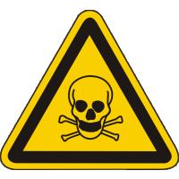 W03 / Warnschild als Symbol Warnung vor giftigen Stoffen nach BGV A8