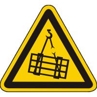 W06 / Warnschild als Symbol Warnung vor schwebender Last nach BGV A8