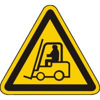 W07 / Warnschild als Symbol Warnung vor Flurförderfahrzeugen nach BGV A 8