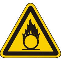 W11 / Warnschild als Symbol Warnung vor brandfördernden Stoffen nach BGV A 8