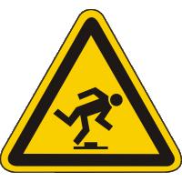 W14 / Warnschild als Symbol Warnung vor Stolpergefahr nach BGV A 8