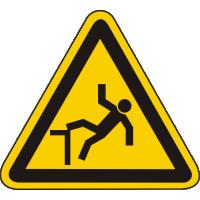 W15 / Warnschild als Symbol Warnung vor Absturzgefahr nach BGV A 8