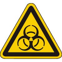 W16 / Warnschild als Symbol Warnung vor Biogefährdung nach BGV A 8