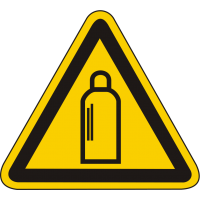 W19 / Warnschild als Symbol Warnung vor Gasflaschen nach BGV A 8