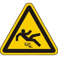 W28 / Warnschild als Symbol Warnung vor Rutschgefahr nach BGV A8