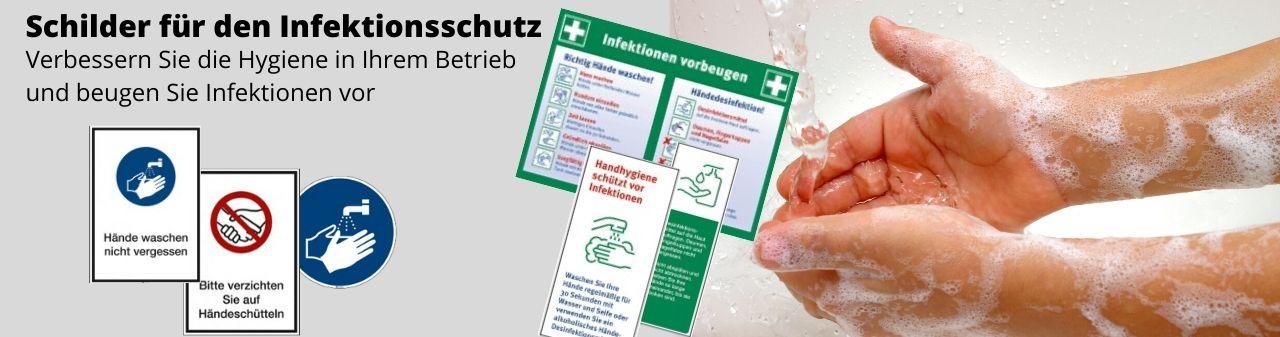Schilder zum Hygieneschutz
