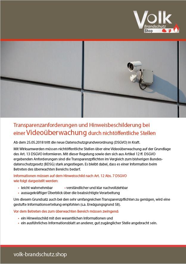 Informationsblatt zur DSGVO