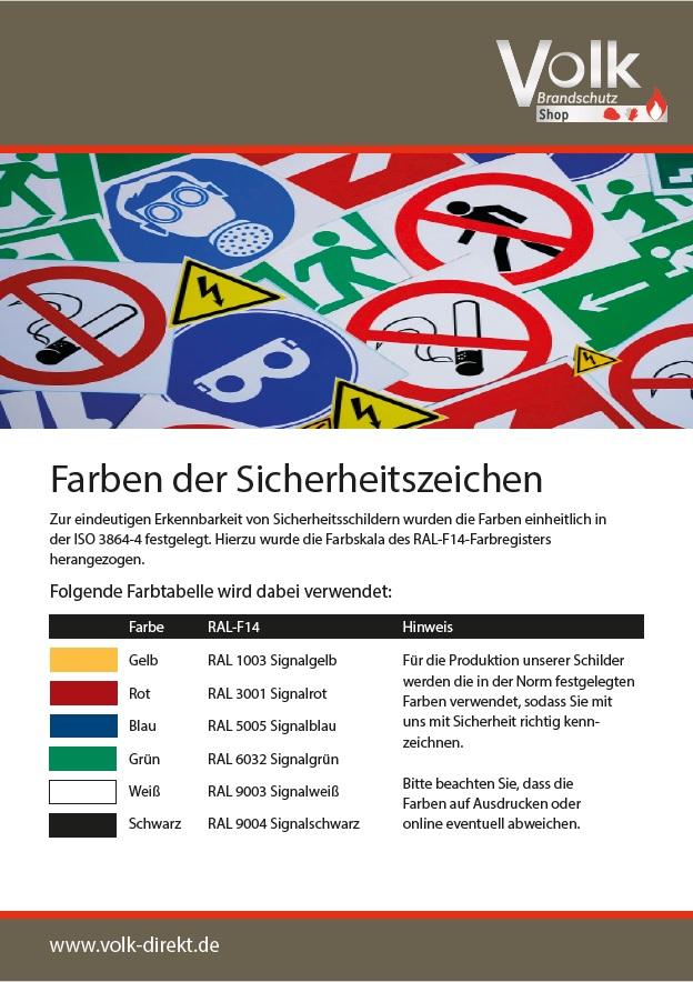 Informationsblatt zu den Farben der Sicherheitszeichen