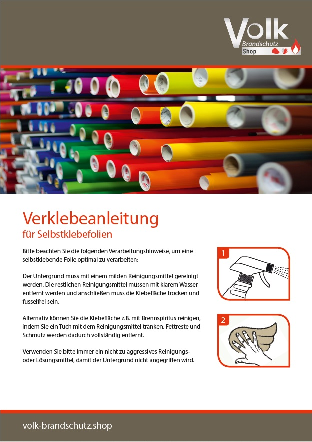 Informationsblatt für Selbstklebefolien