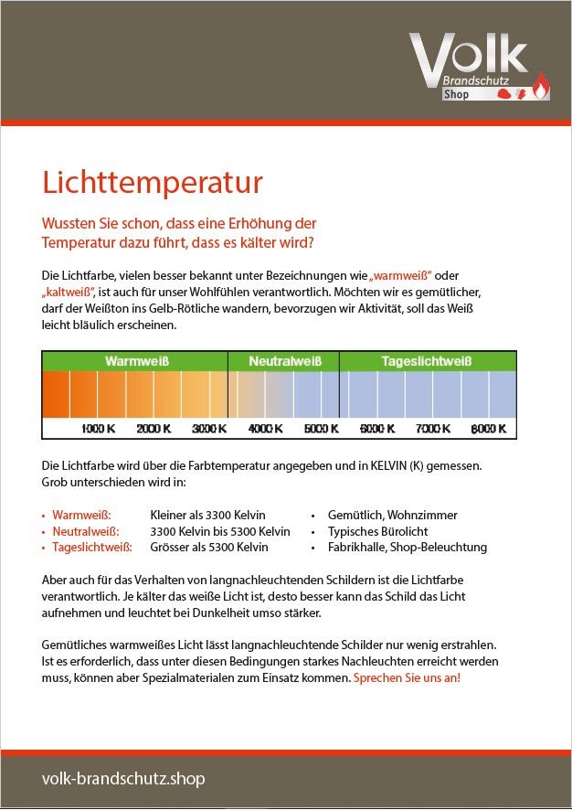 Informationsblatt zu der Lichttemperatur