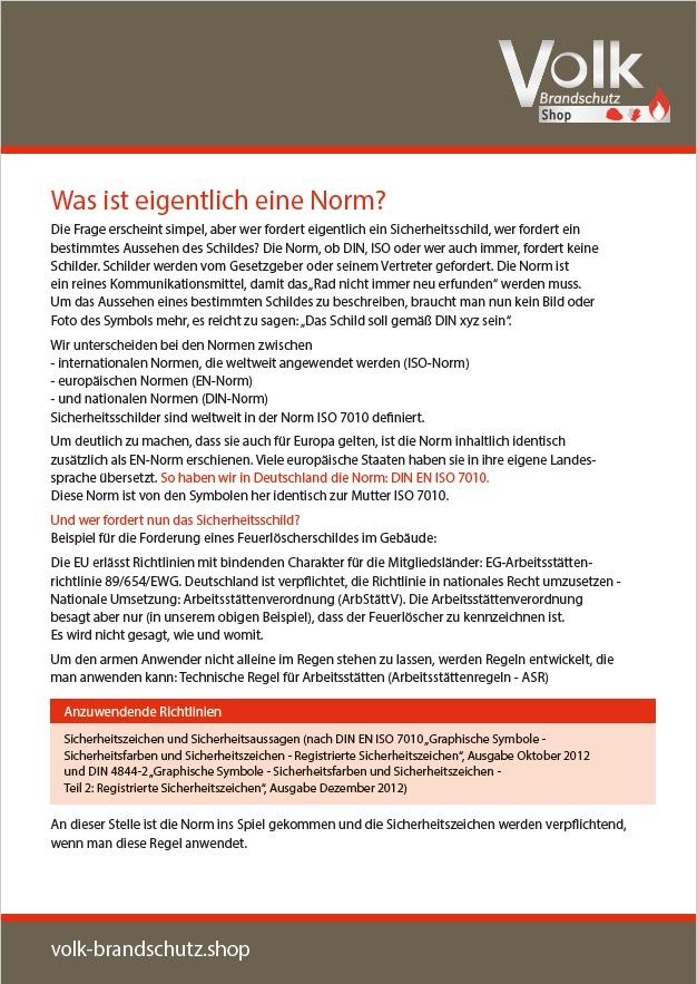 Informationsblatt zur Normung