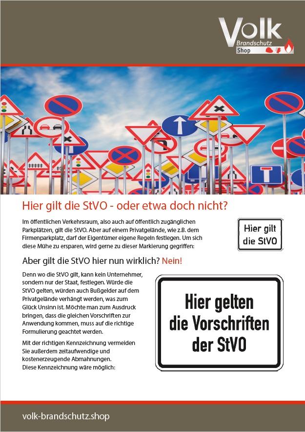 Informationsblatt StVo auf dem Betriebsgelände